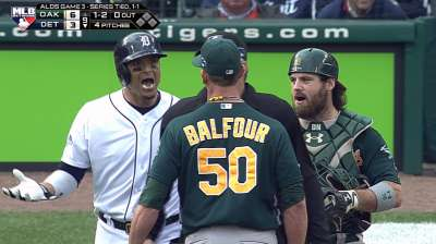 Tempers flare as V-Mart, Balfour exchange words