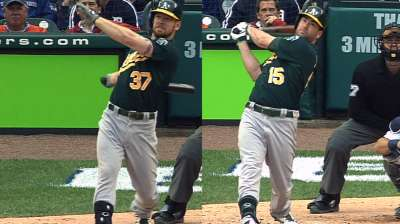 A's belt three homers to take 2-1 ALDS lead