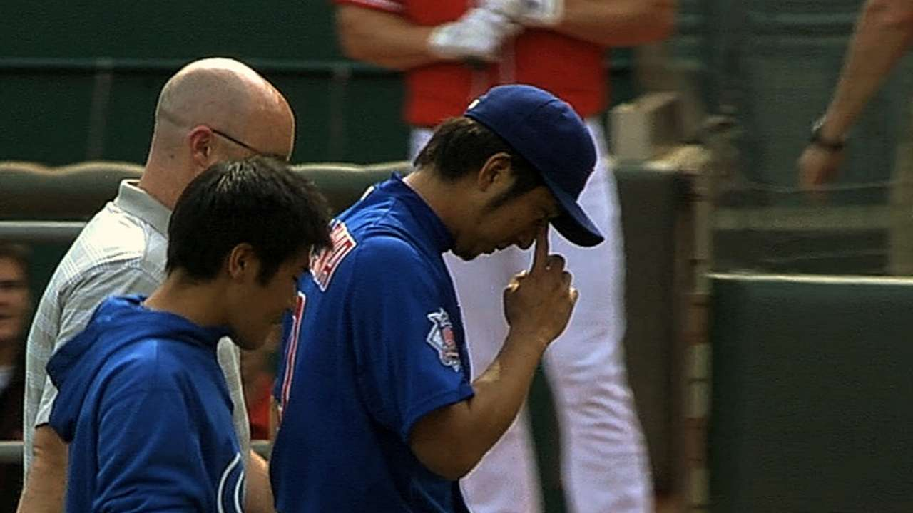 Fujikawa returns to DL with right forearm strain