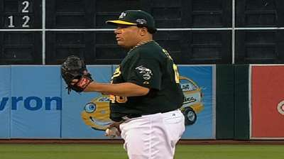 Colon recovers after three-run first, but A's can't