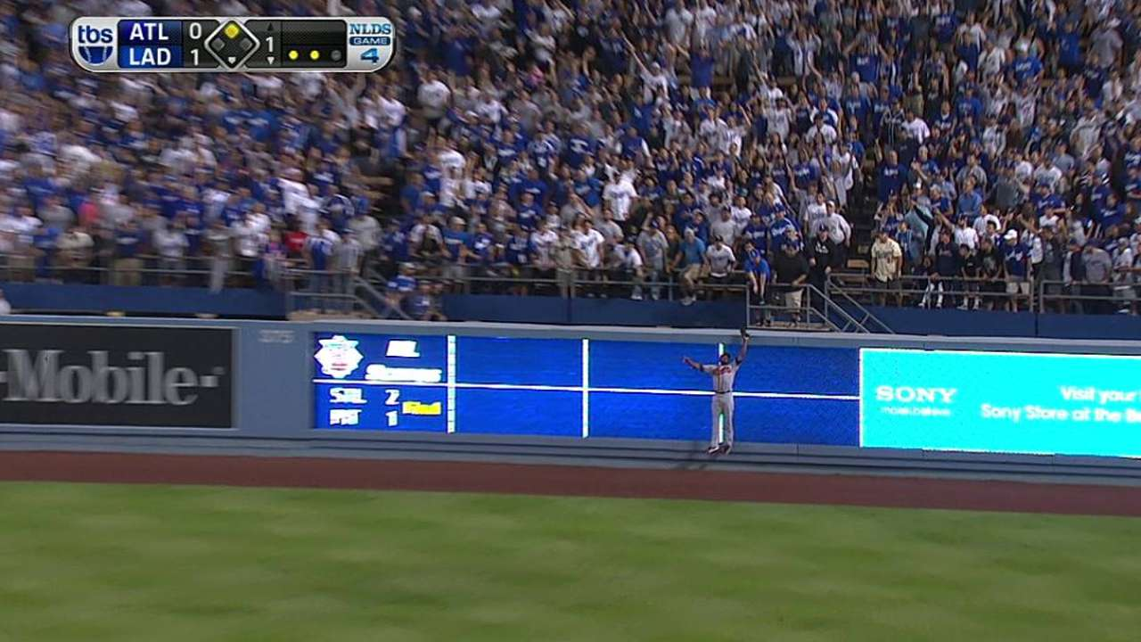 J. Upton's leaping catch