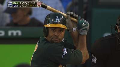 A's bring back Anderson, Crisp for 2014