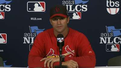 Cardinals stick with same roster for NLCS against LA