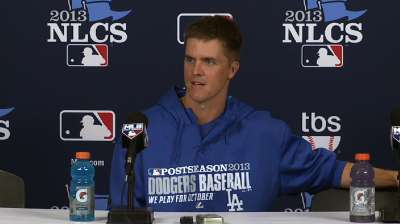 Greinke no stranger to facing Cardinals in NLCS