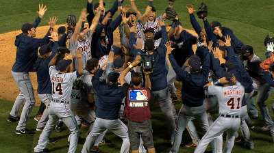 Leyland avoids being carried after ALDS win