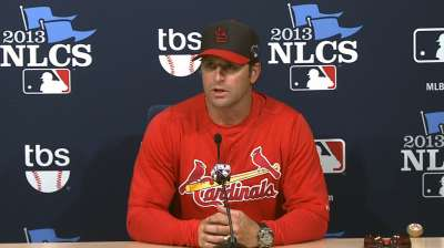 Cardinals content with low-scoring NLCS