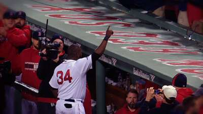 Sox 'pen catcher snares Papi's homer as Torii topples