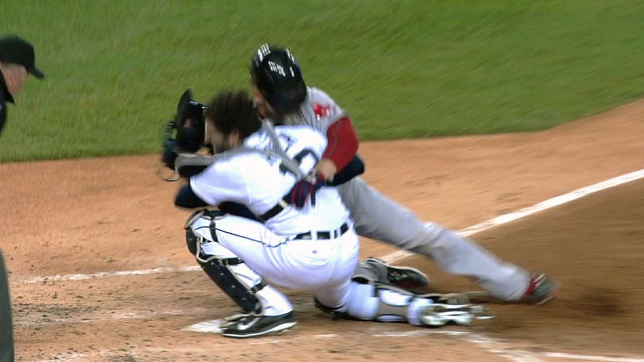Pierzynski believes collisions are part of catching