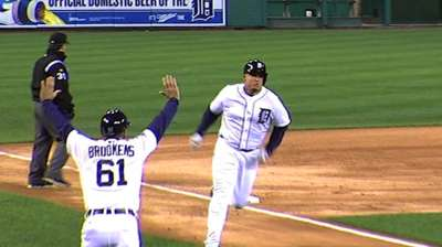 Leyland: Cabrera's injury a factor in play at plate