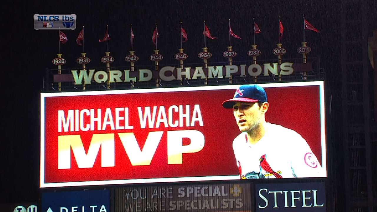 Wacha named NLCS MVP