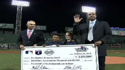 Baseball Tomorrow Fund recognized before Game 2