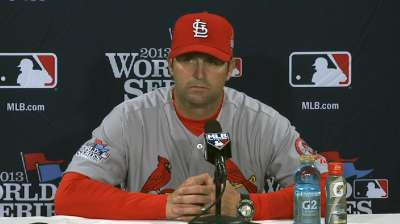 Oct. 24 Mike Matheny postgame interview