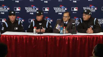 Oct. 26 John Hirschbeck, Jim Joyce, Dana DeMuth & Joe Torre postgame interview