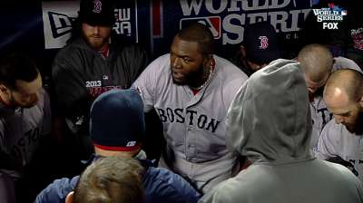 Ortiz's words carry as much weight as his bat