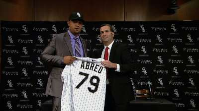 White Sox introduce slugger Abreu to Chicago