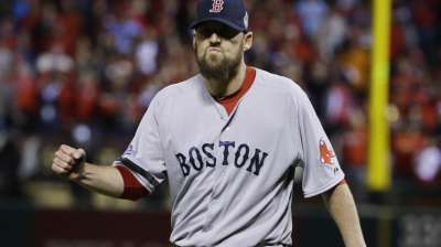 Lackey looks for repeat of prior World Series success
