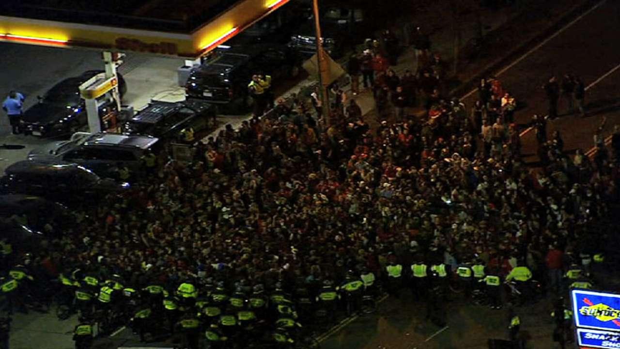 Boston fans celebrate title