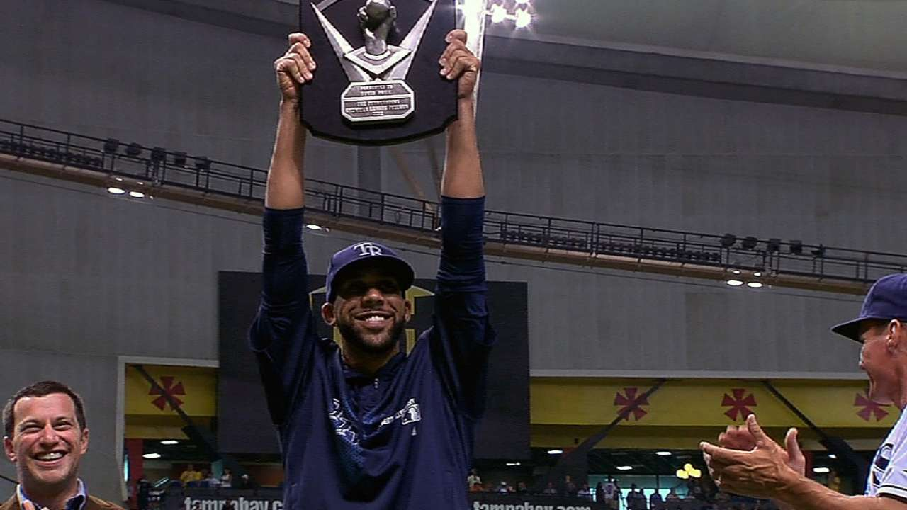 Price presented with AL Cy Young Award
