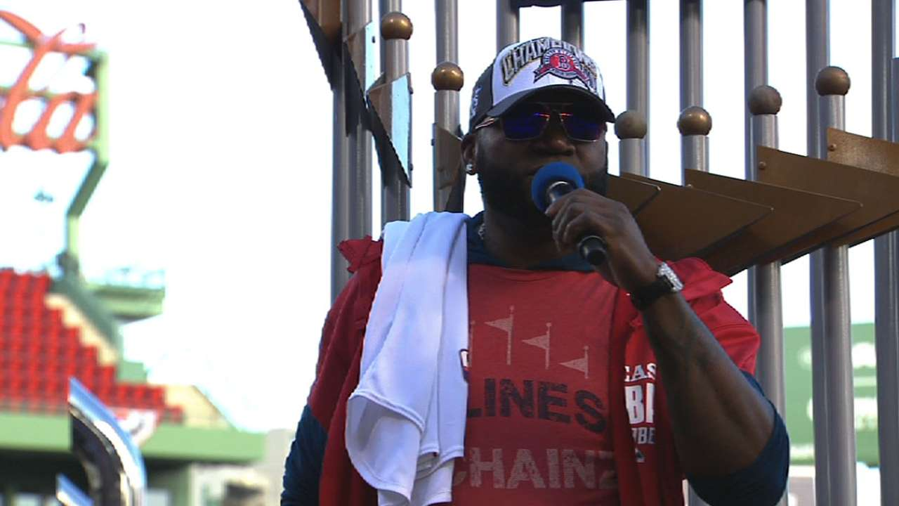 Papi speaks at victory parade