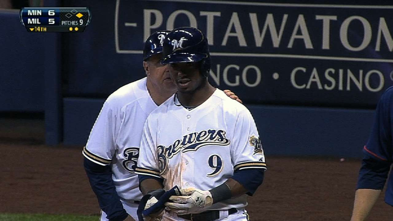 Segura third Brewer to collect six-pack of hits