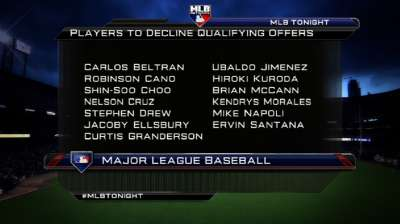 All qualifying offers declined; Draft order clearer