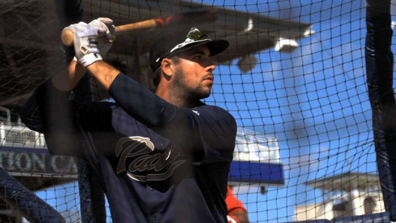 Hedges growing more comfortable in Padres' camp