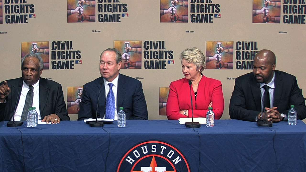 MLB, Astros announce details of '14 Civil Rights Game
