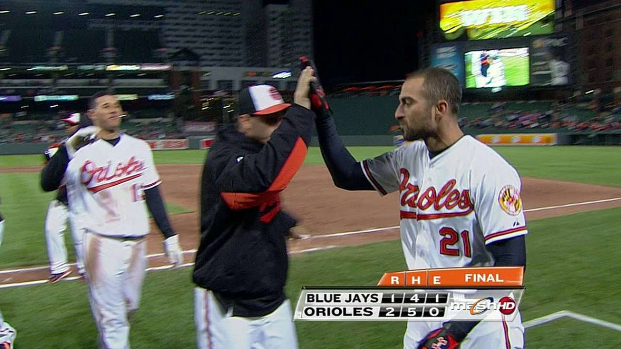 Steady Markakis comes through with winner in ninth