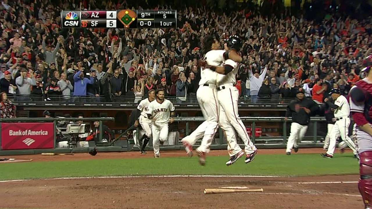 Belt comes up big with Giants' game-winning hit