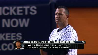 MLB responds to A-Rod's arbitration outburst