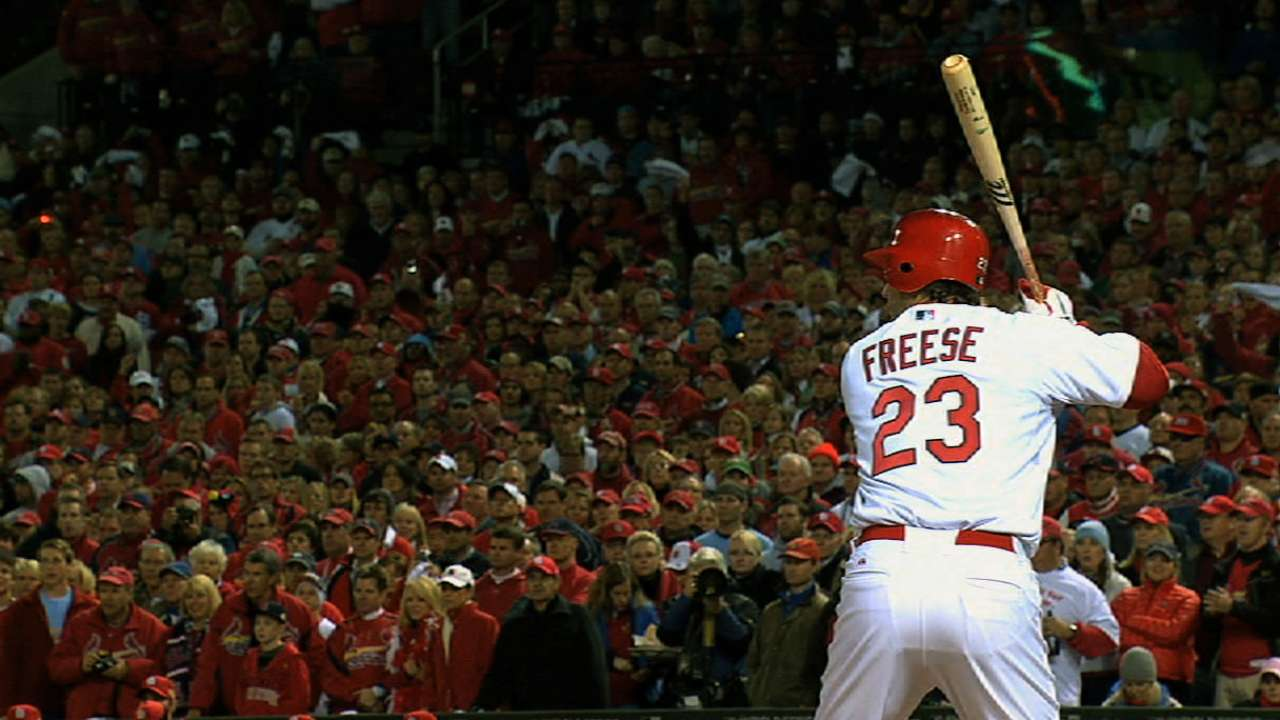 Freese pays respect to Musial with new number