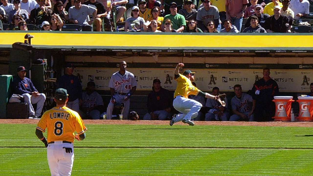 A's unable to match Tigers' offense in series finale
