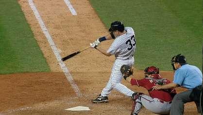 Hafner hits a go ahead homer