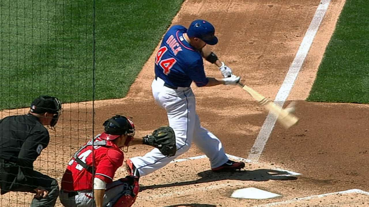 Buck helps develop Mets staff, blasts homers