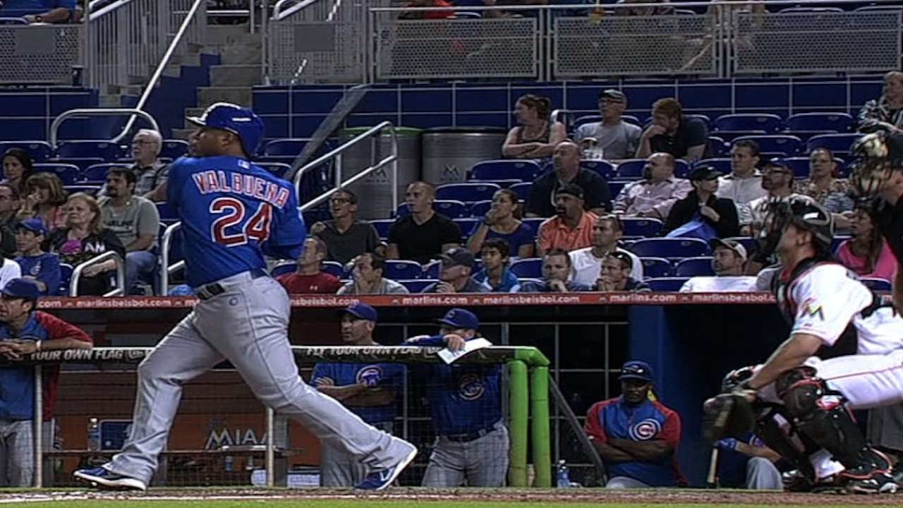 Valbuena's ninth-inning jack lifts Cubs over Marlins