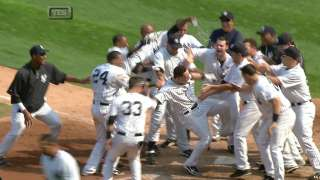 Martin hits a walk off homer