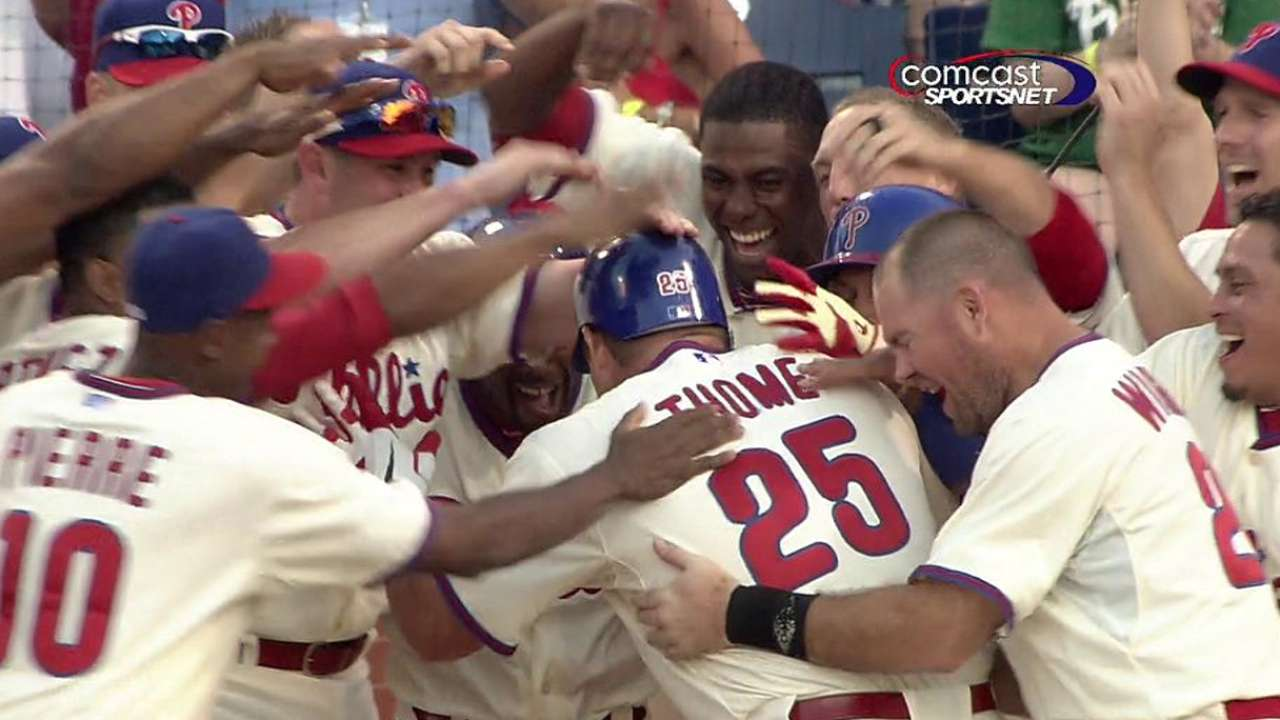 Thome named 2016 Phillies Wall of Fame inductee