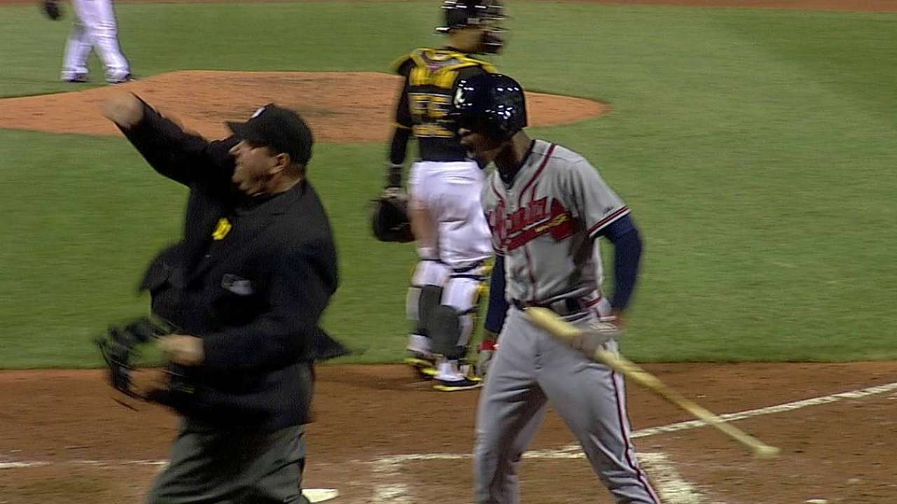 B.J. Upton ejected in seventh inning by ump Holbrook