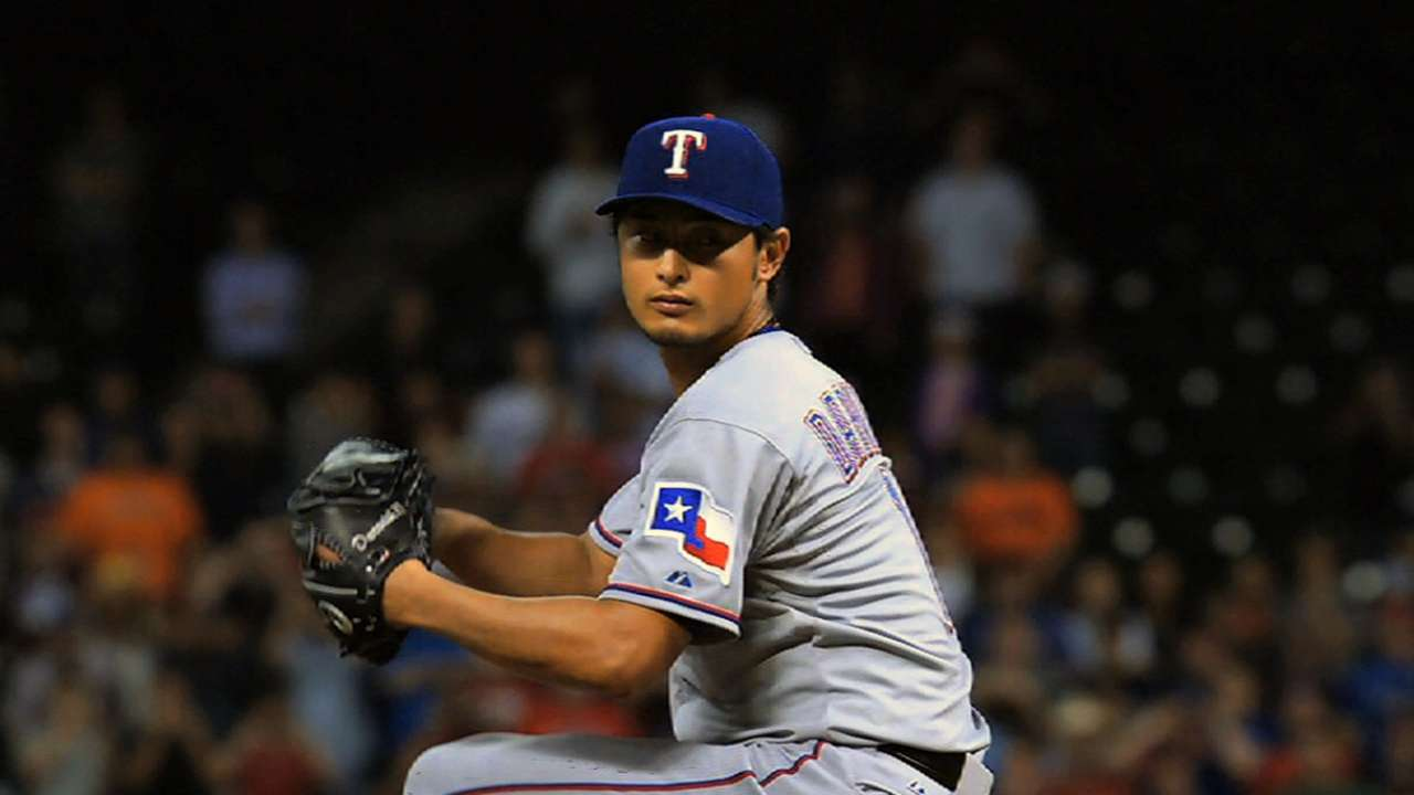 Darvish gets Opening Day nod for Rangers
