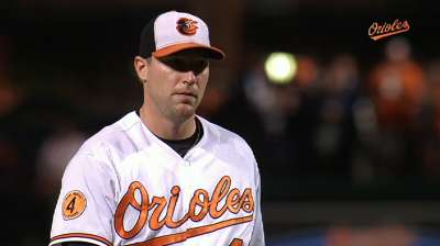 Emotional Johnson grateful to O's, looks toward future