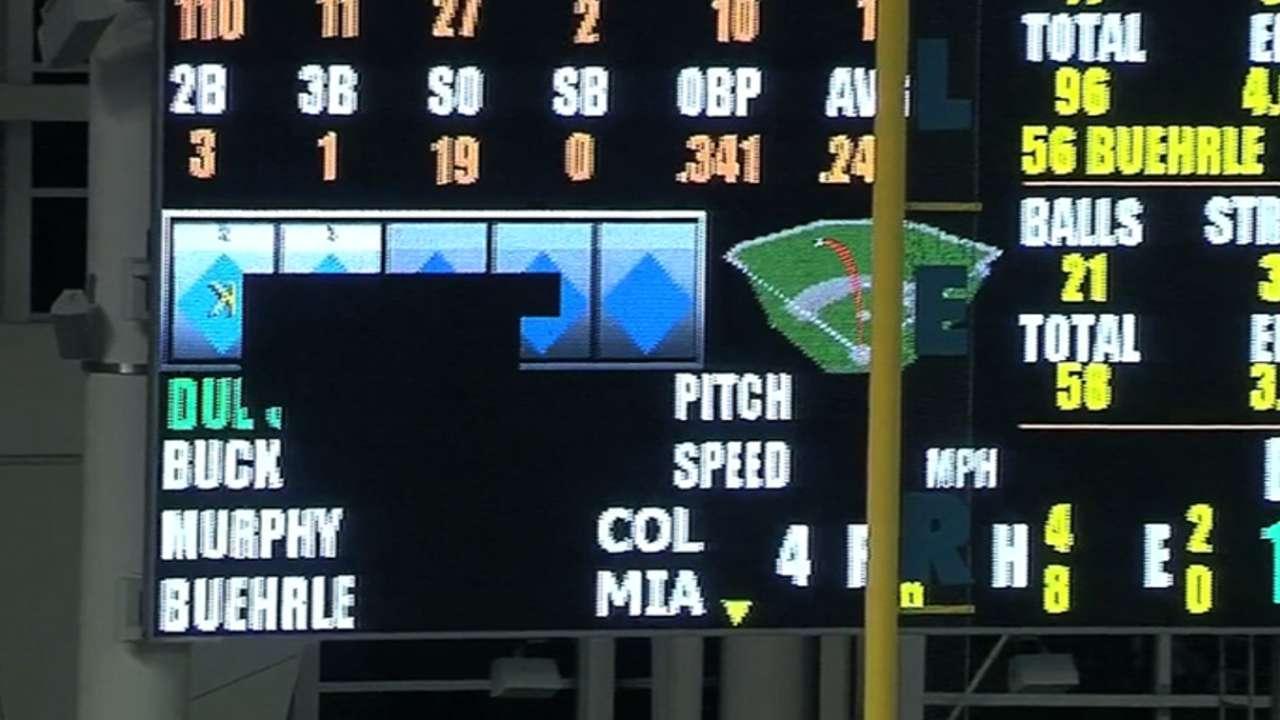 Stanton's slam hits scoreboard