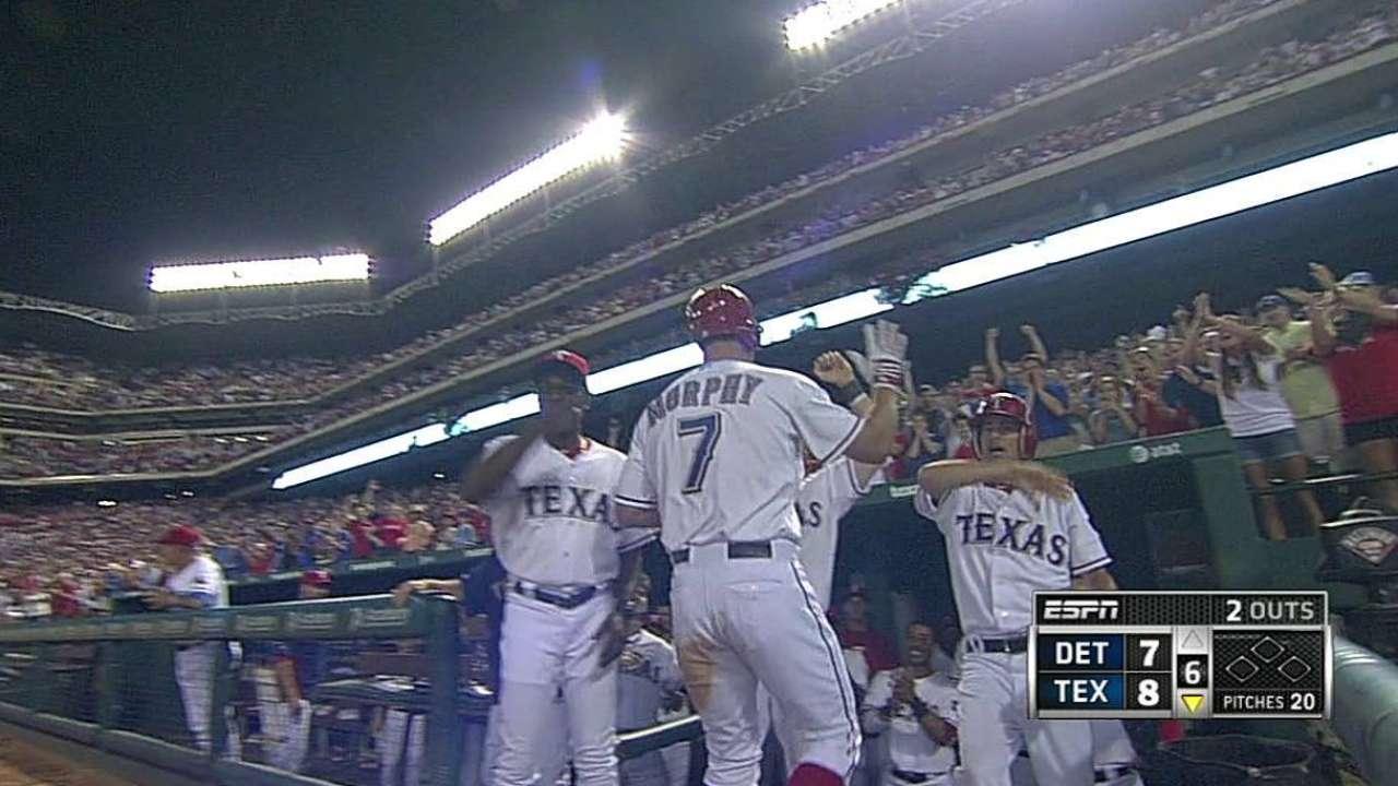 Rangers' big innings trump Miggy's three homers