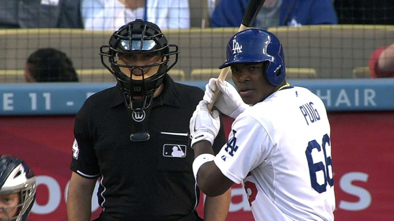 Yasiel Puig debuta a lo grande con los Dodgers