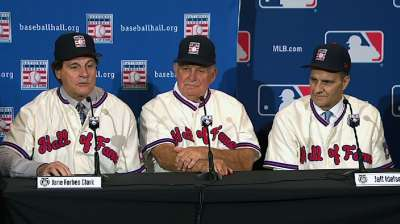 Weiss lauds new Hall of Famers La Russa, Cox