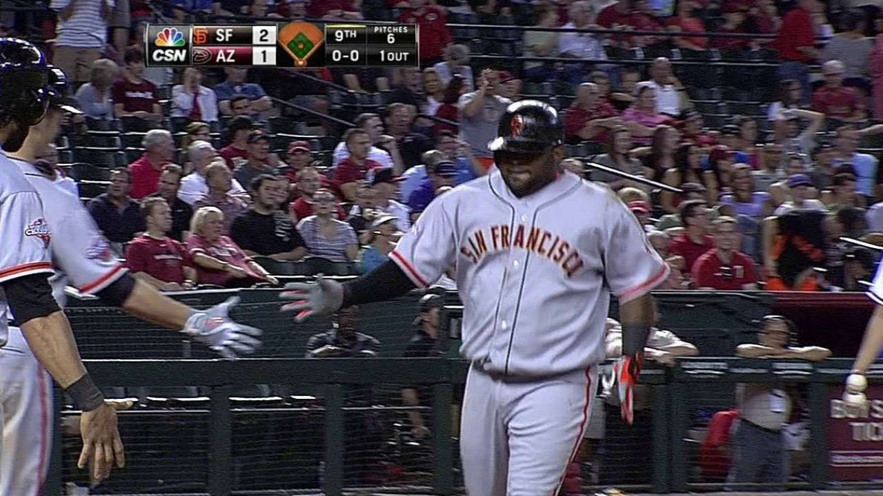 Panda stuns D-backs with ninth-inning blast