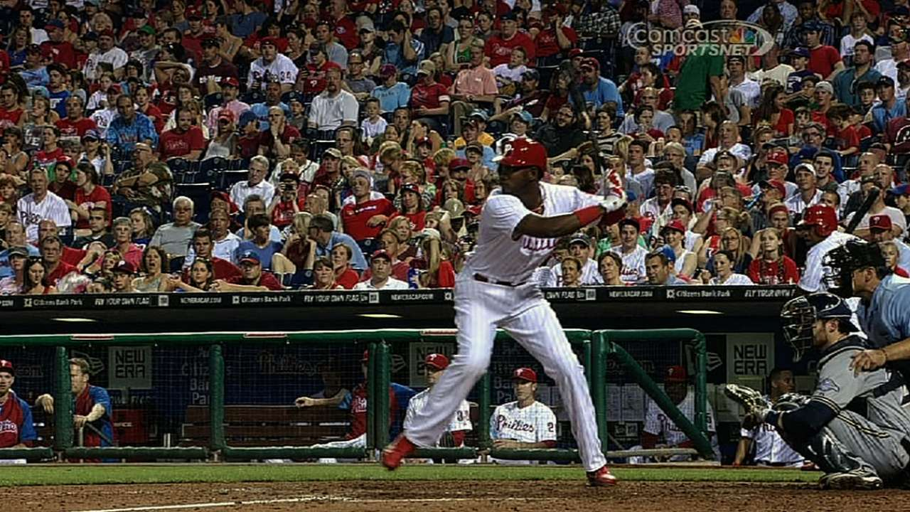Brown's two homers gives him NL lead with 15