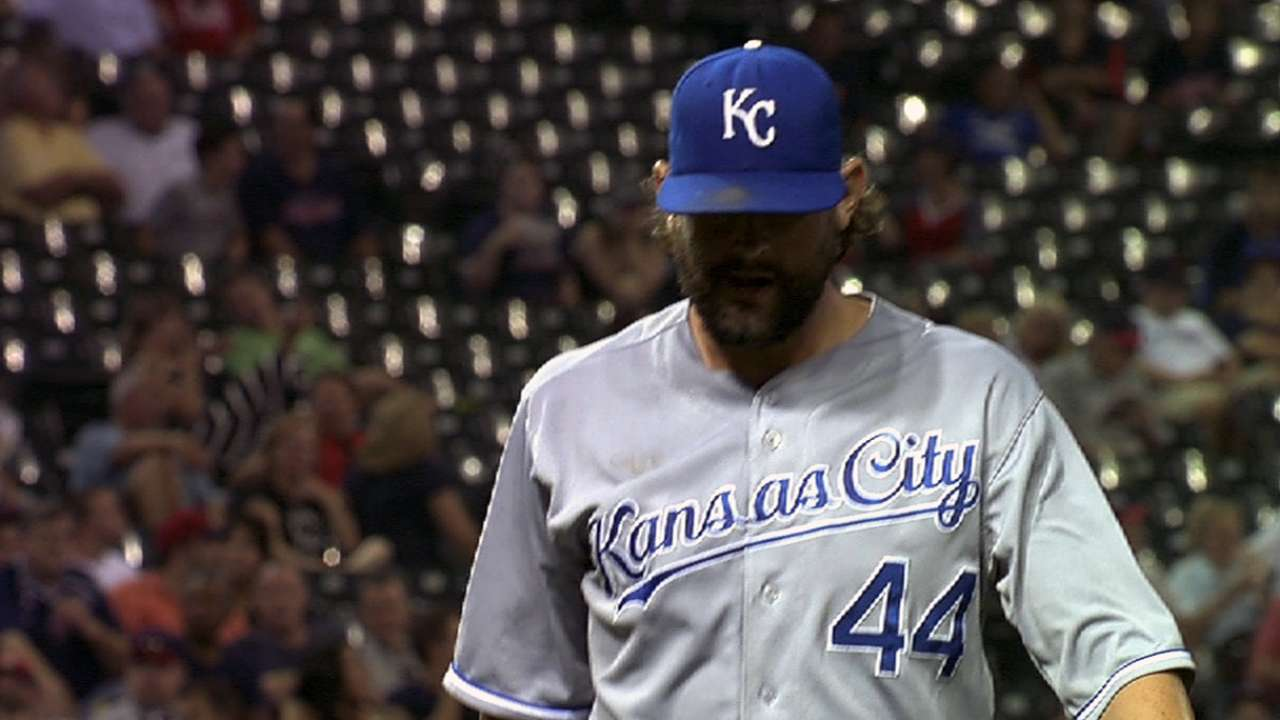 Hochevar excited about first throwing session