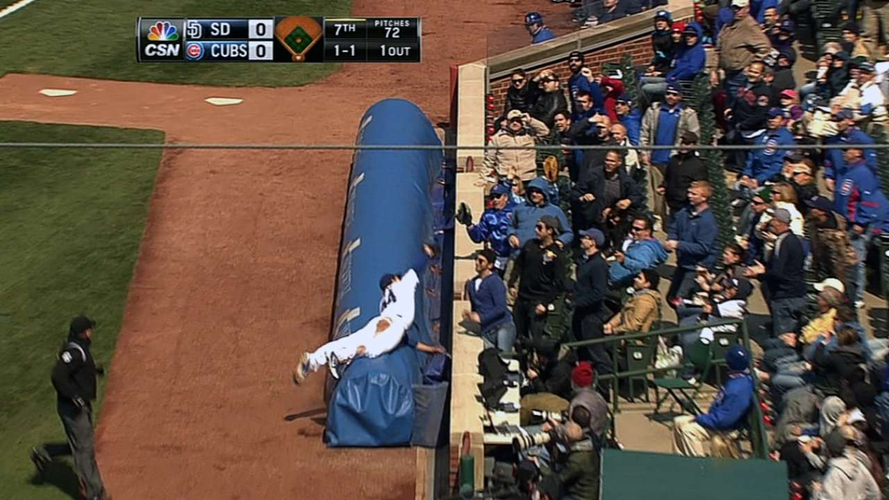 Instincts took over on Rizzo's tarp catch