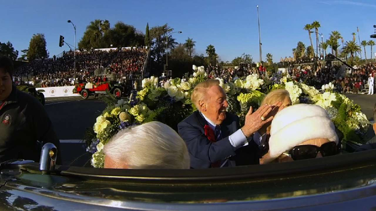 Scully has exhilarating time at Rose Parade