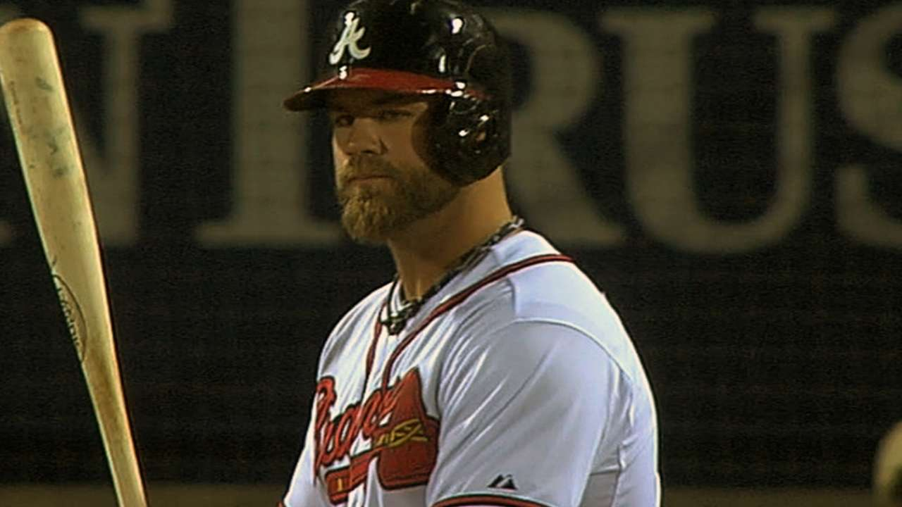 With Gattis, Braves aim to extend dish consistency